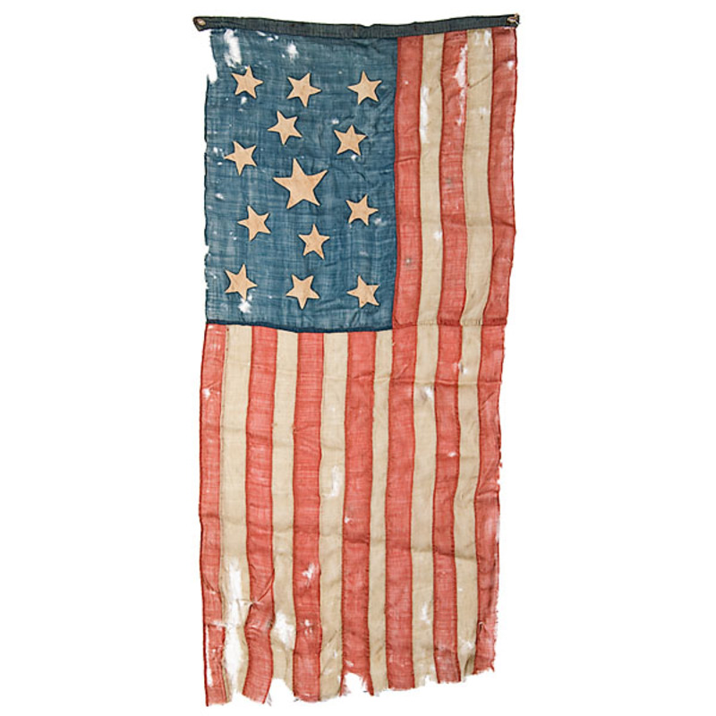 13-Star American Flag With Blood Stripe