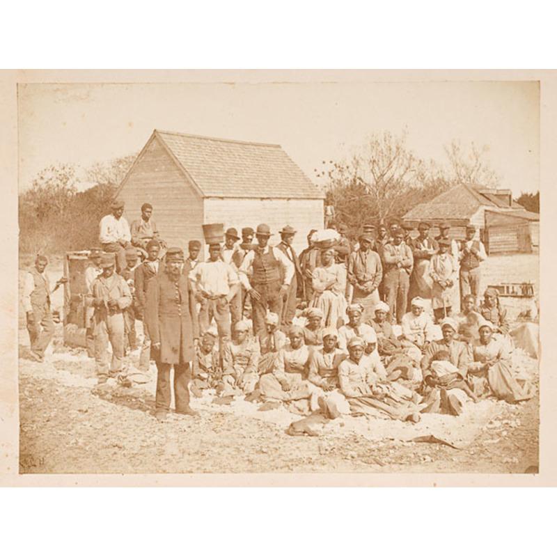 Slaves of Thomas Drayton, Hilton Head Albumen Photograph