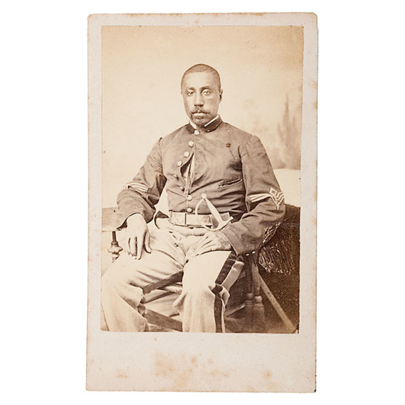Civil War CDV of Sgt. Taylor B. Aldrich, 19th USCT