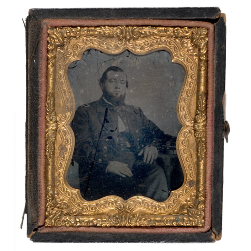 Ninth Plate Ambrotype of Navy Master