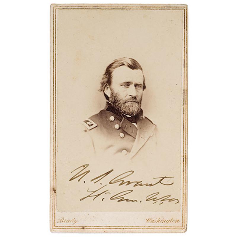 Autographed CDV of Lt. Gen. U.S. Grant,