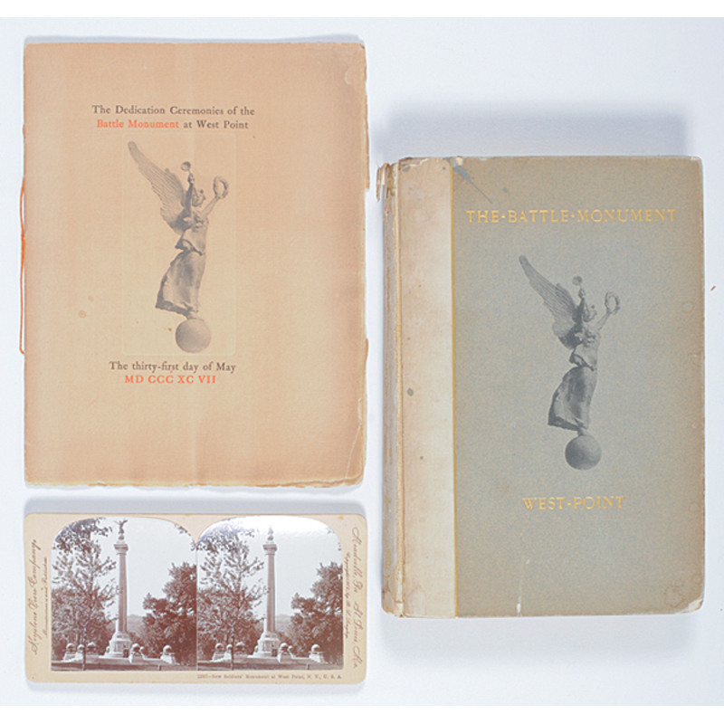 West Point Battle Monument Dedication Program, Book, and Stereoview