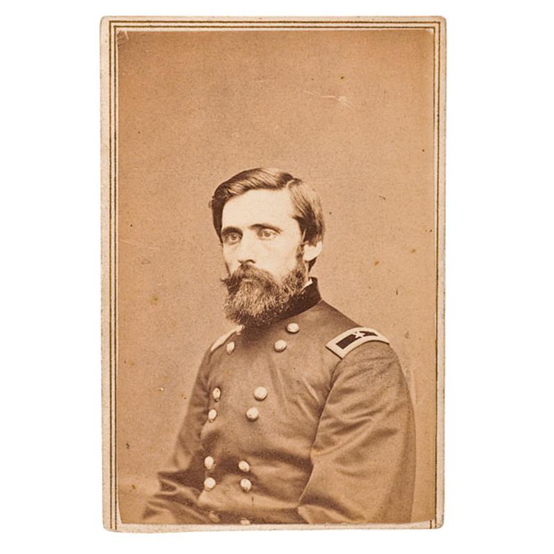 Autographed CDV of Brig. Gen. John Rawlins