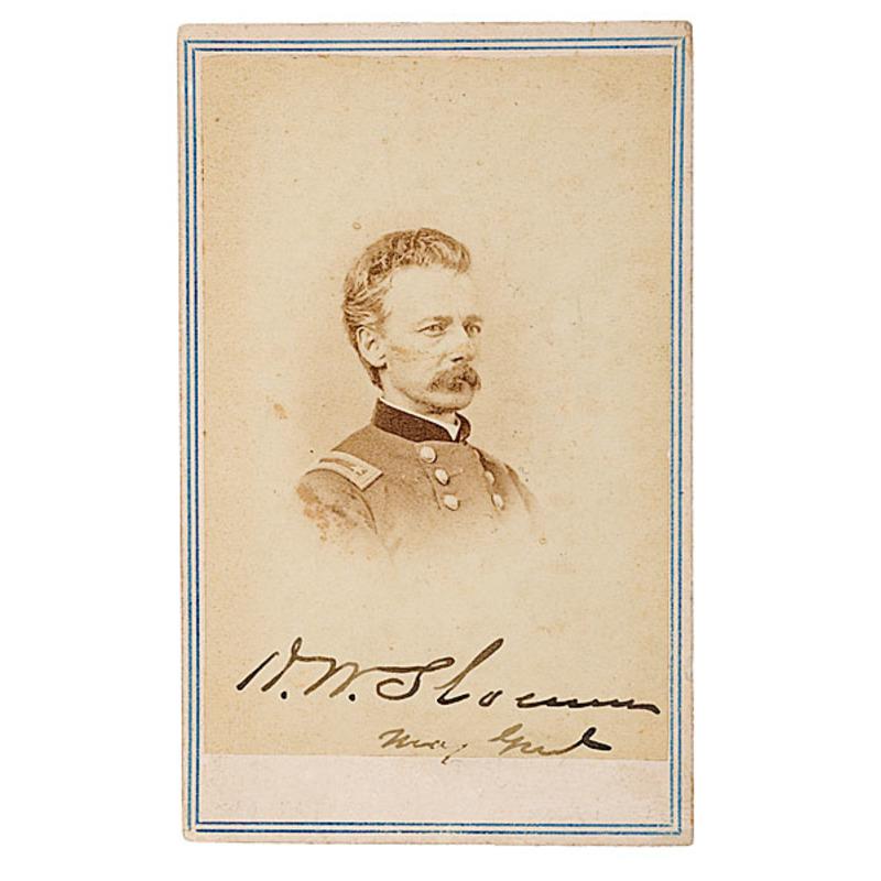 Autographed CDV of Maj. Gen. Henry W. Slocum