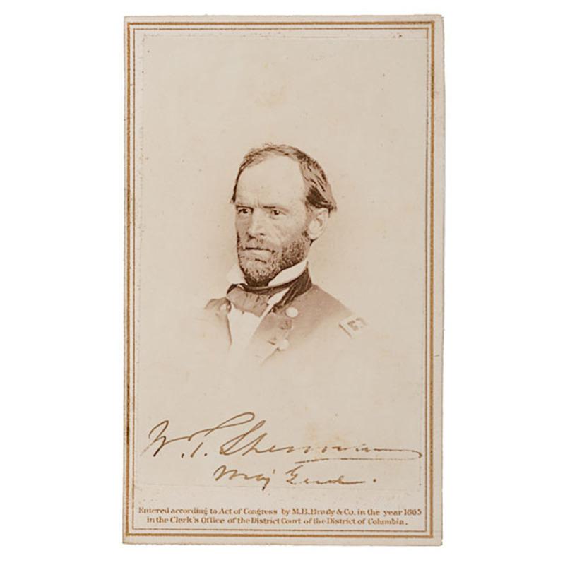 Autographed CDV of Maj. Gen. William T. Sherman