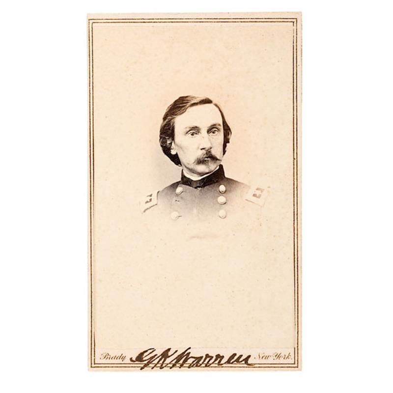 Autographed CDV of Maj. Gen. Gouverneur K. Warren