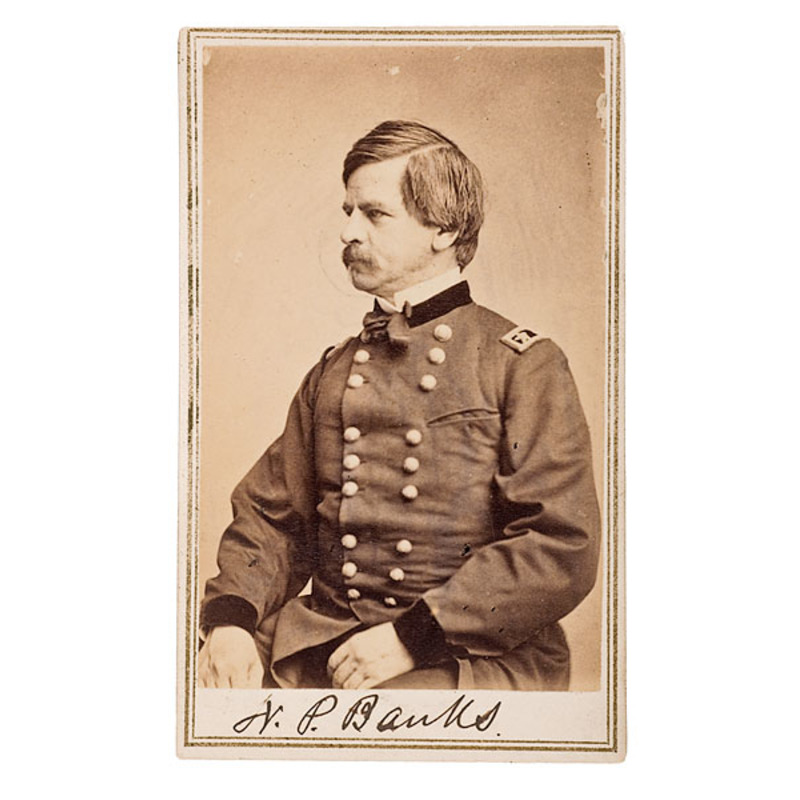 Autographed CDV of Maj. Gen. Nathaniel P.  Banks