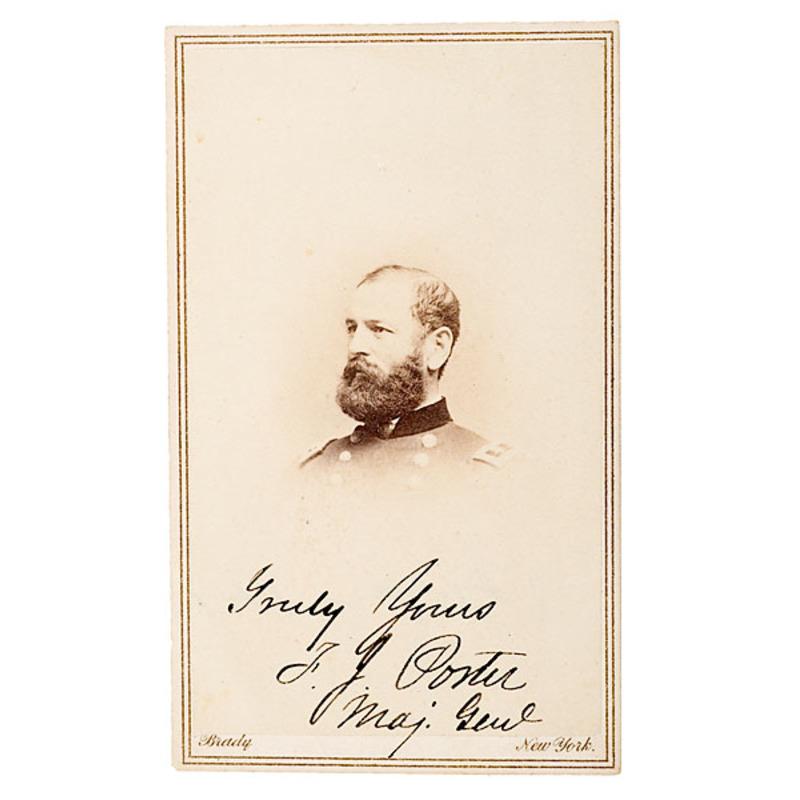 Autographed CDV of Maj. Gen. Fitz John Porter