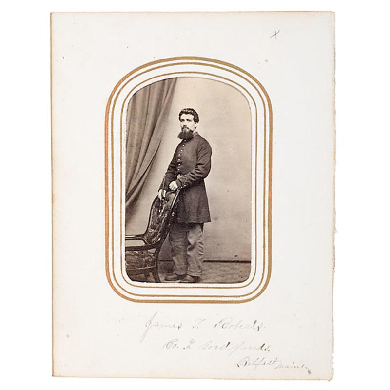 CDV of Musician James T. Roberts, Maine Coast Guards