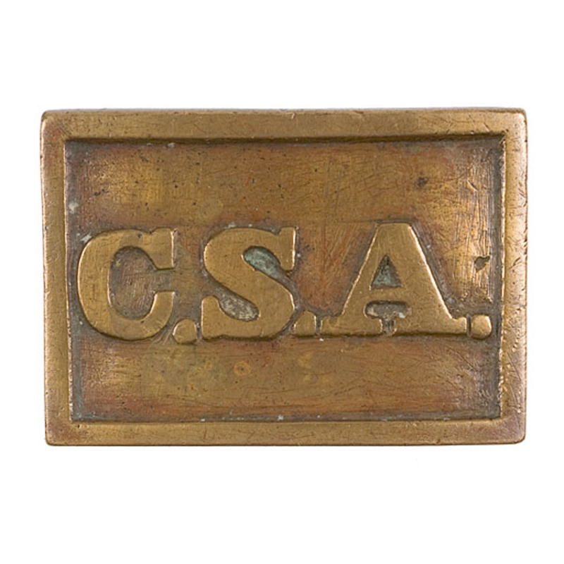 Confederate Belt Plate Marked C.S.A.