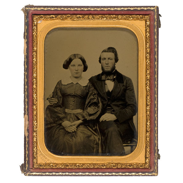 Pre-War Ambrotype By Vance of Future Confederate Dr. Geo. P. Terrill & Wife