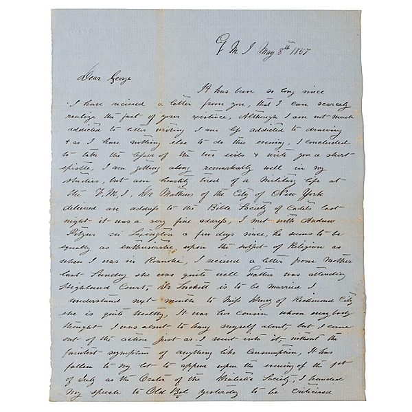 Autographed Letter from KIA Confederate Gen. James B. Terrill