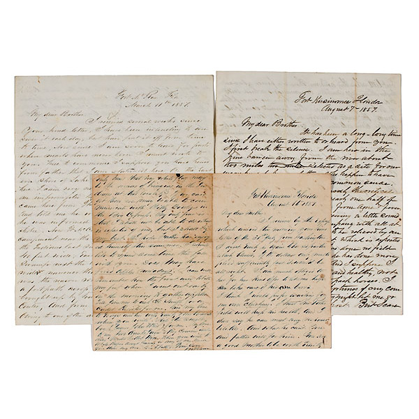 Third Seminole Wars Letters from W.R. Terrill, KIA at Perryville, KY