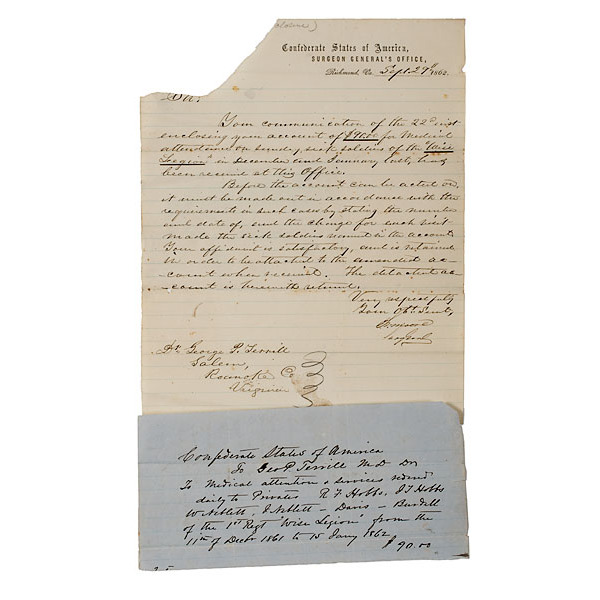 Civil War ALS from Surgeon Gen. S.P. Moore to G.P. Terrill