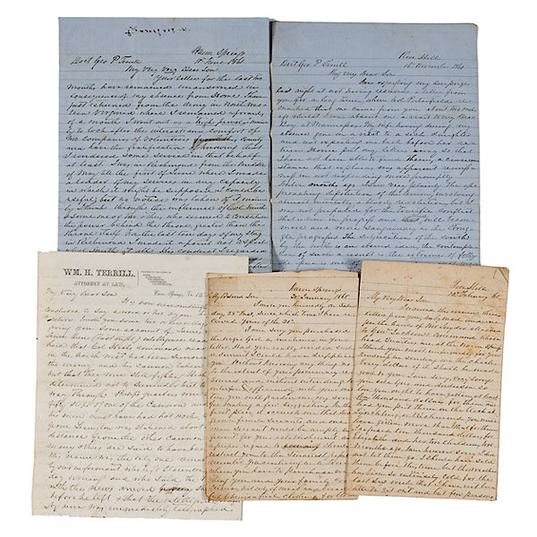 Important Civil War Southern Letters From Col. William Henry Terrill