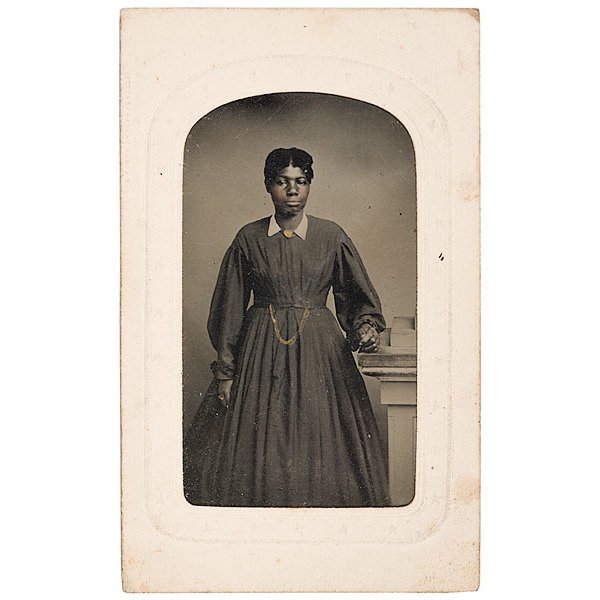 Tintype of A Terrill Family African American Servant