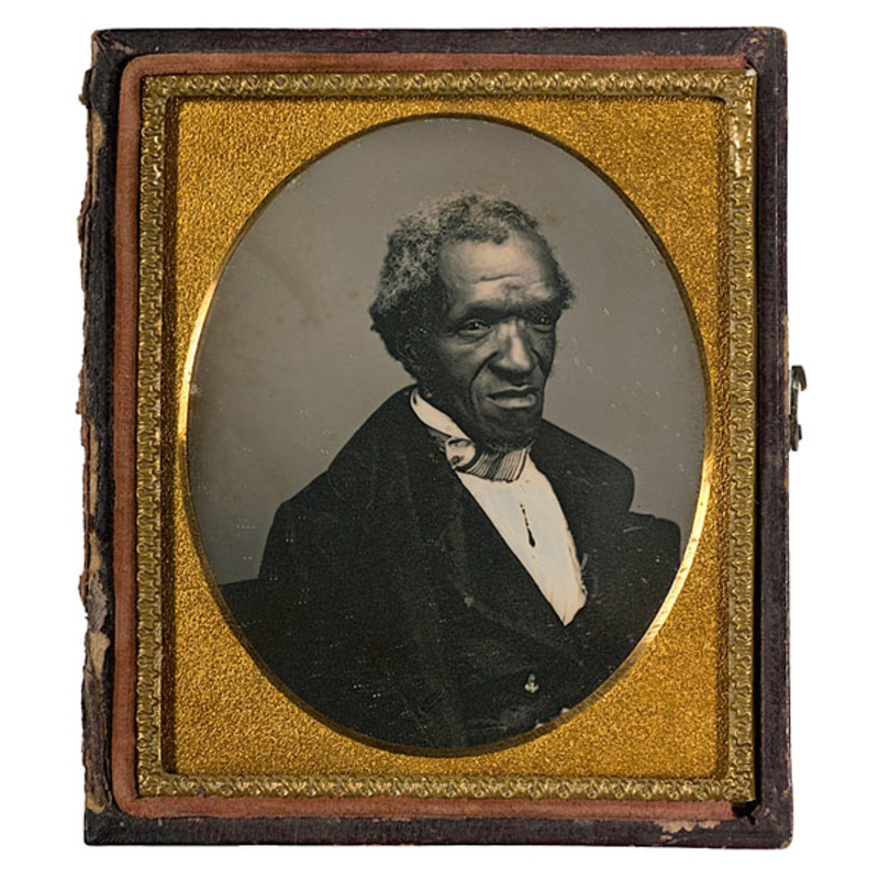 Dramatically Posed Daguerreotype of African American Man