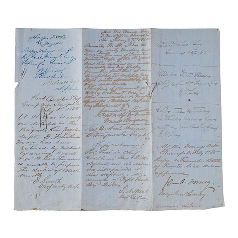 Confederate General J. H. Forney Docketed Manuscript