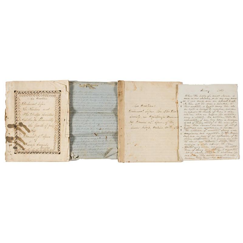 Fine Manuscript on Slavery by Confederate Captain Daniel Speer