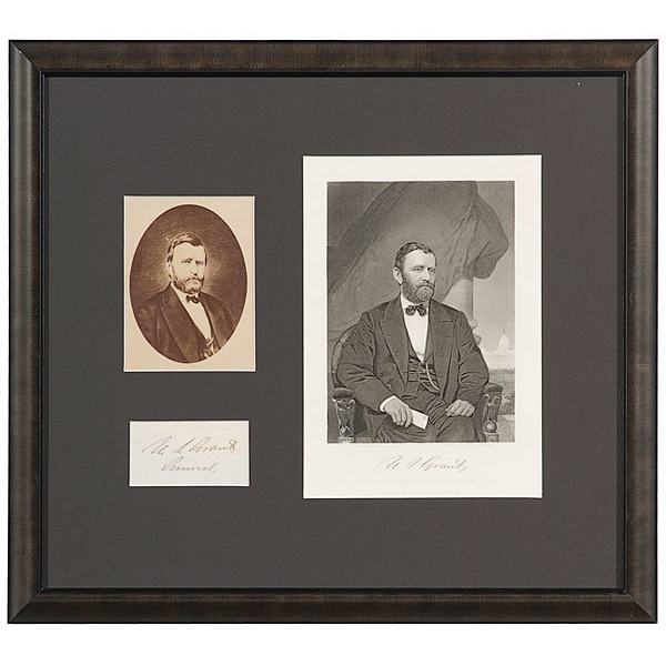 U.S. Grant Clipped Signature and Ephemera