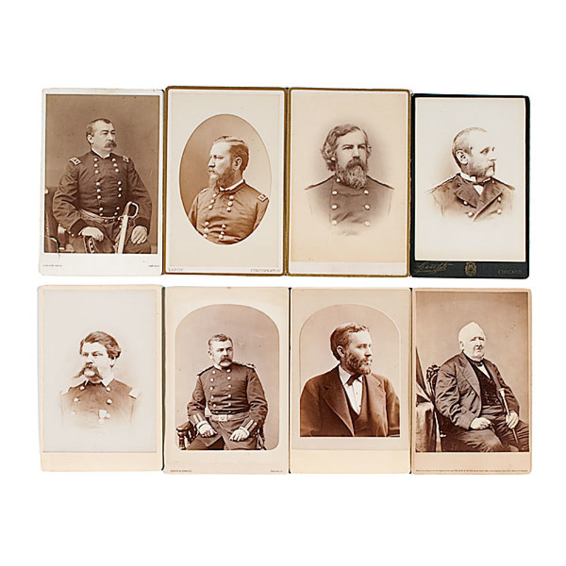 U.S. Army Officer Cabinet Cards From the Archive of C.B. Comstock, US Engineers