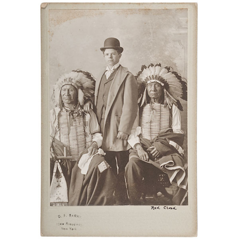 D.F. Barry Cabinet Photo of Red Cloud, American Horse and Buffalo Bill's Nephew