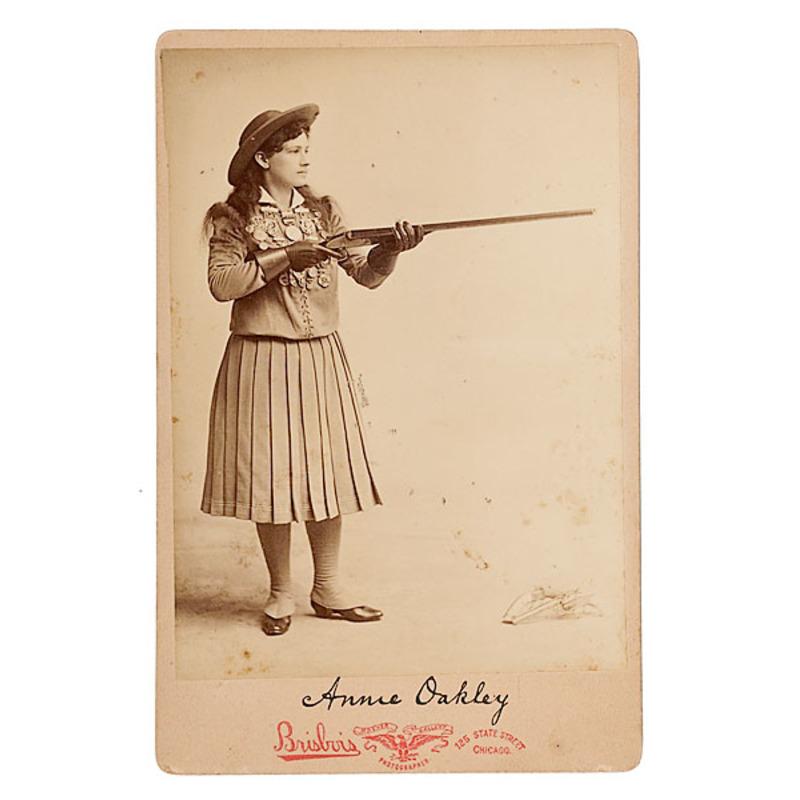 Annie Oakley Cabinet Card by Brisbois