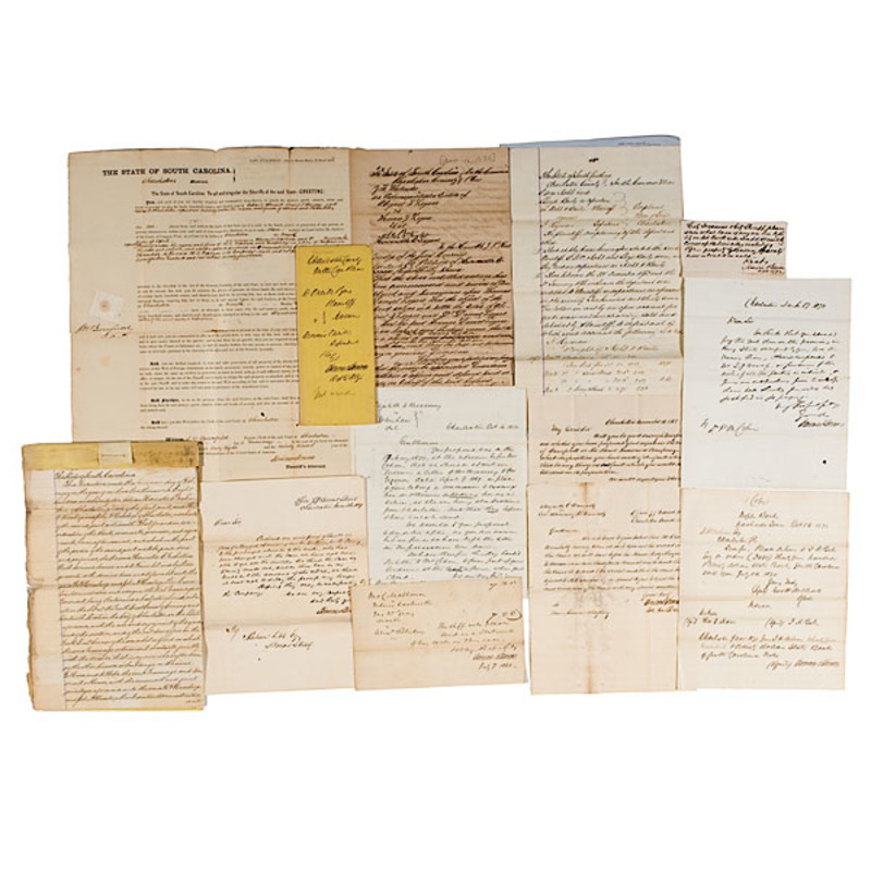 Confederate Officer & Politician James Simons Archive of Documents