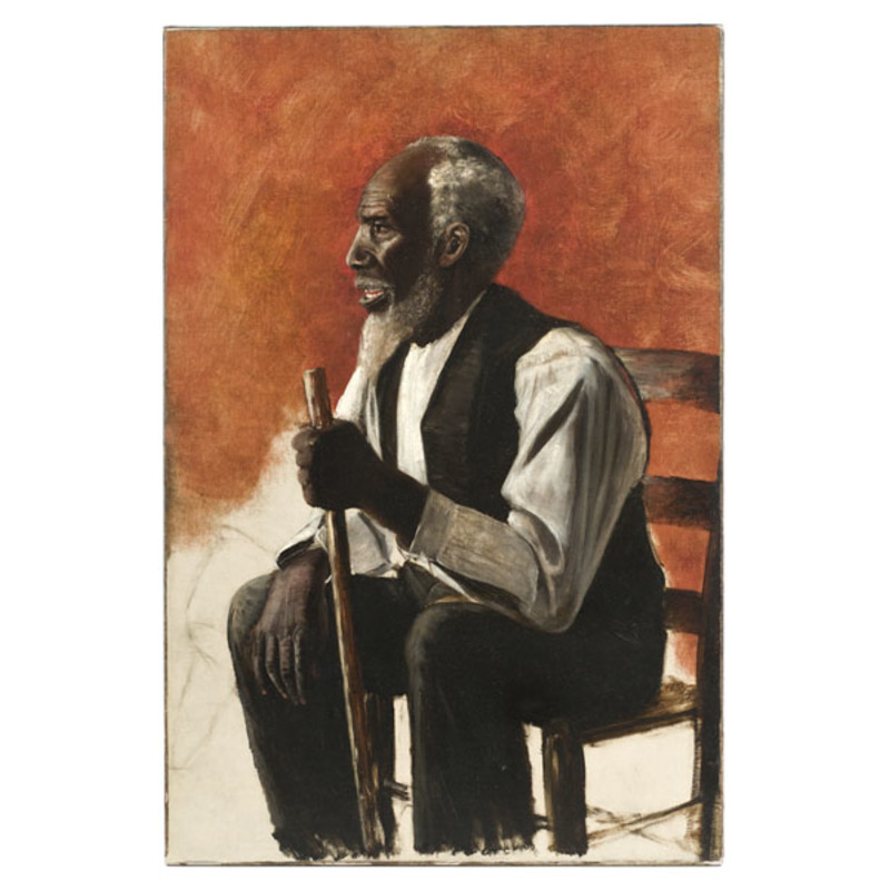 Portrait of Alfred,  Andrew Jackson's Slave, Oil on Canvas