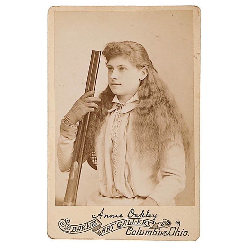 Annie Oakley Cabinet Card by Baker's Art Gallery, Columbus, OH