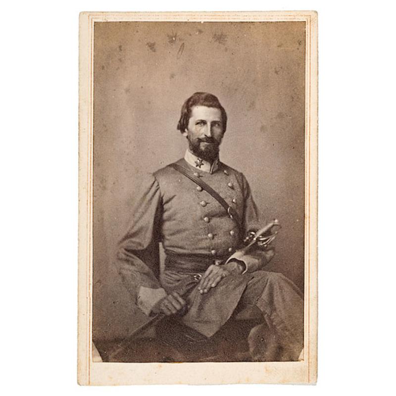 CDV of Confederate Major William T. Bradshaw