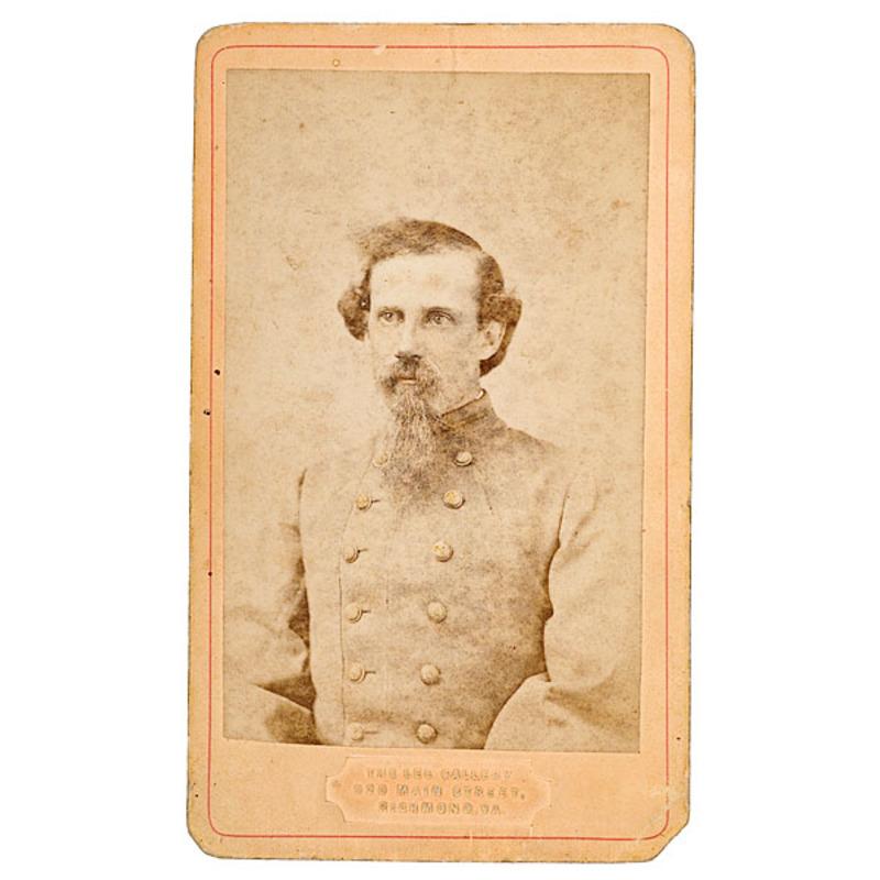 CDV of  Unidentified Confederate Lieutenant