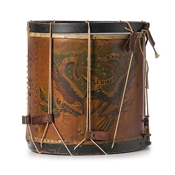 Fine Pre-Civil War Regimental Militia Drum