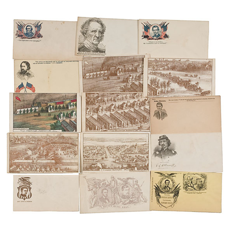 Collection of Civil War Patriotic and Political Envelopes