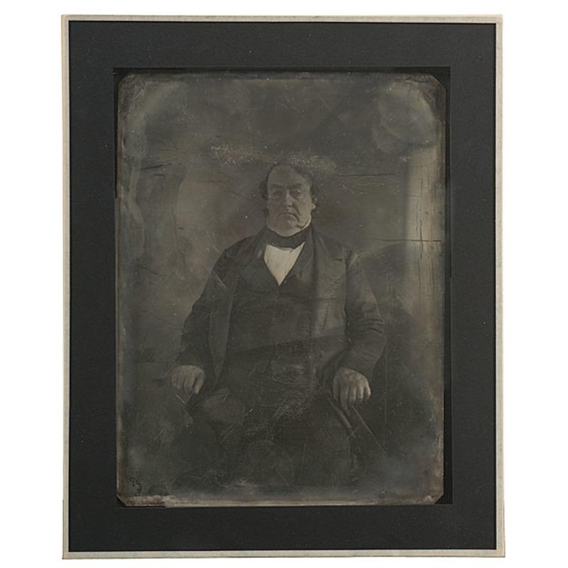 Whole Plate Daguerreotype of Lewis Cass