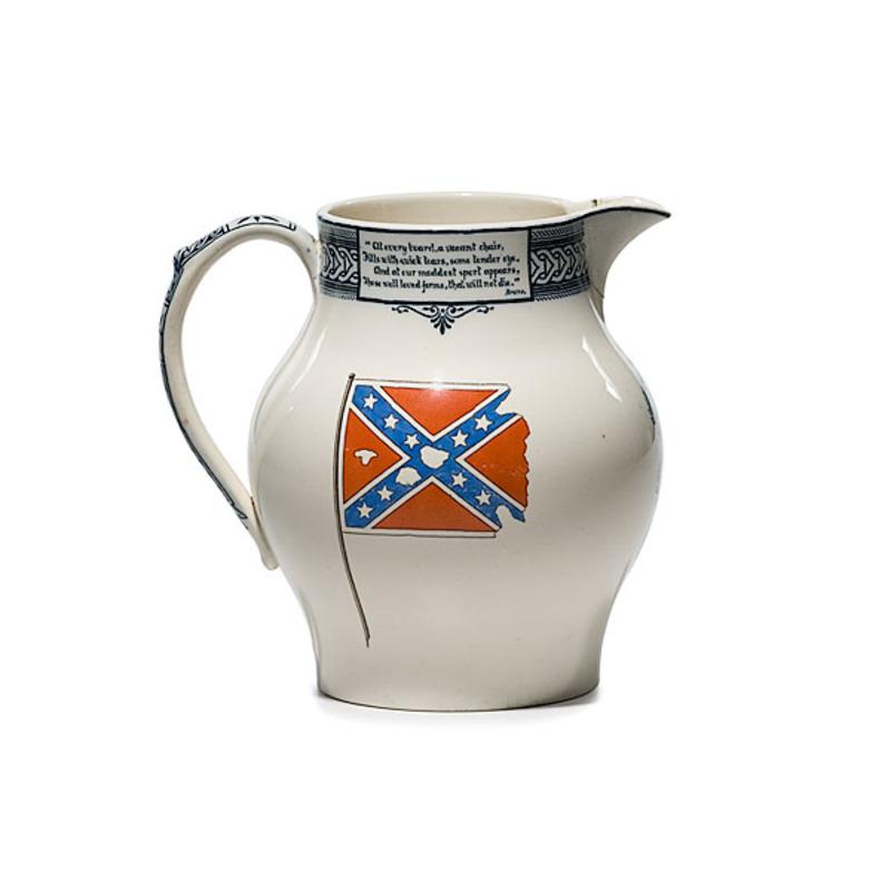 Confederate Washington Light Infantry Queensware Pitcher