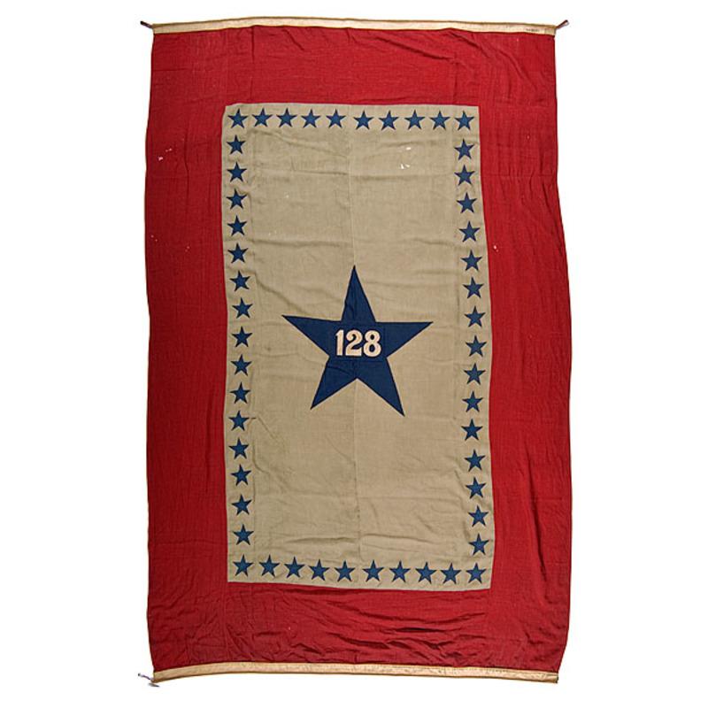 128th Pennsylvania Machine-Sewn Flag