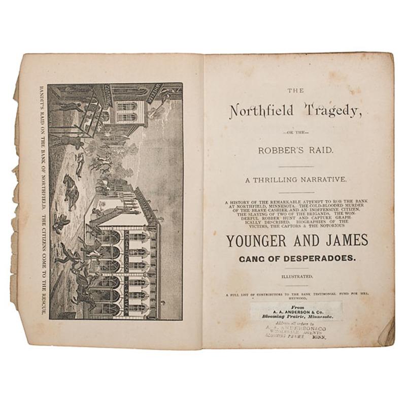 Scarce Jesse James Northfield Robbery Pamphlet