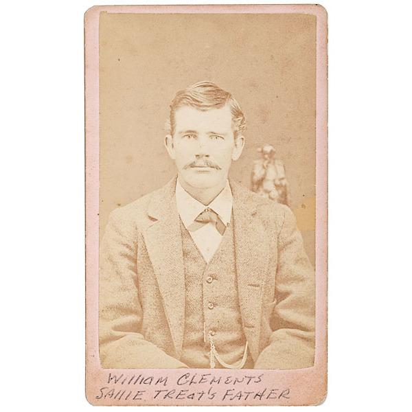 "Scarce Texas CDV of ""Slick"" Clements, Texas Ranger"