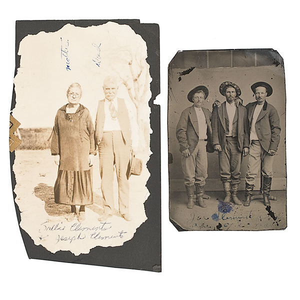 Tintype of Joseph Hardin Clements, Texas Cowboy and Outlaw, Plus