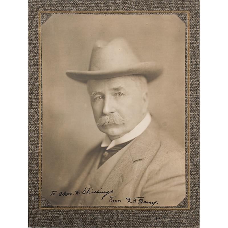 Autographed D.F. Barry Photograph