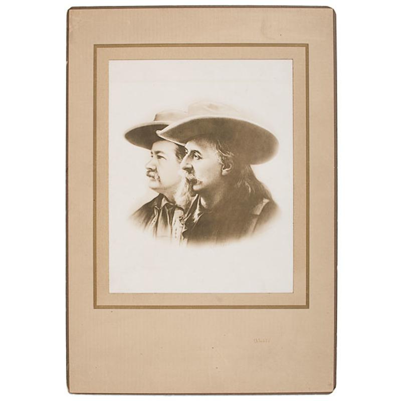 D.F. Barry Signed Photograph of Buffalo Bill & Pawnee Bill