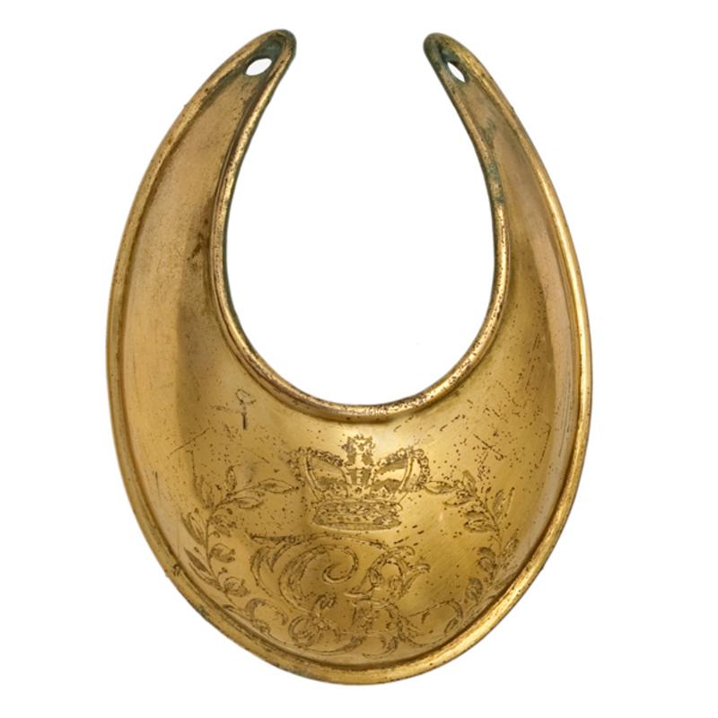 British Revolutionary War Era Brass Gorget