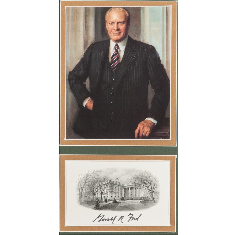 Richard Nixon, Gerald Ford, & Jimmy Carter, Signed Cards