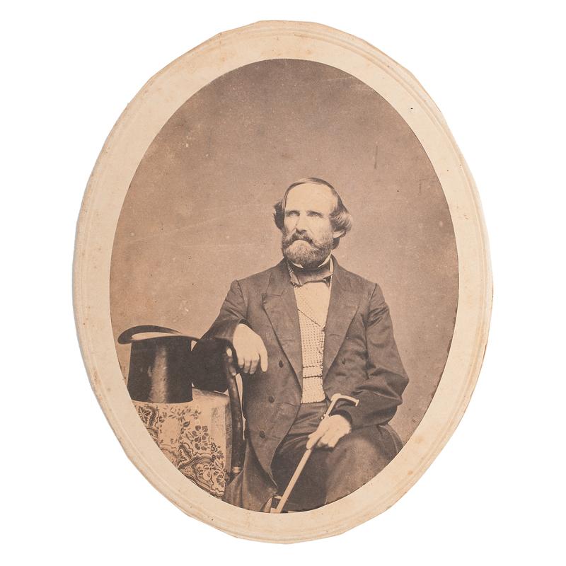 Texas Ranger, Mexican War Major, and Confederate General Benjamin McCulloch, Salt Print, Ca 1859-1861