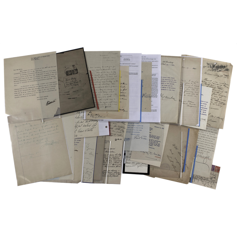 Miscellaneous Letters to Louis Wiley and Family