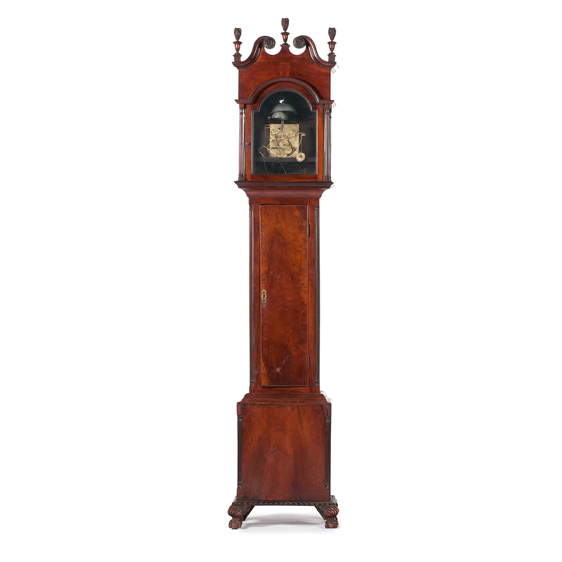 American Tall Case Clock in Mahogany