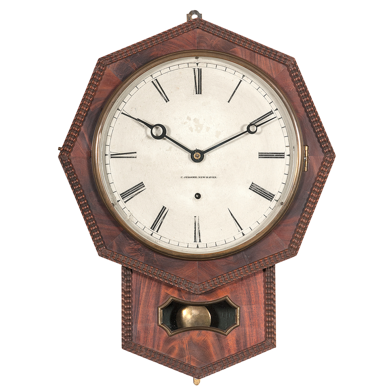 Chauncey Jerome Ripple Front Wall Clock Cowan S Auction