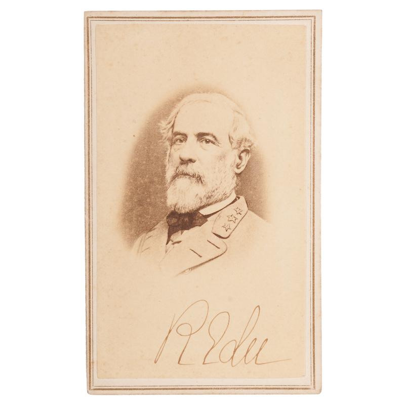 Robert E. Lee Autographed CDV