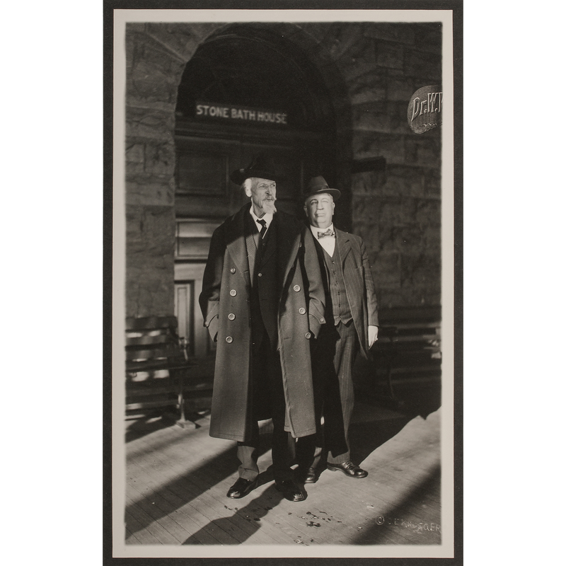 Last Photograph of William F. Cody, Five Days Before His Death, with His Doctor at Glenwood Springs, Colorado